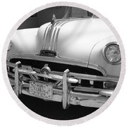 Route 66 - Classic Car Round Beach Towel by Frank Romeo