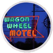 Route 66 - Wagon Wheel Motel Round Beach Towel