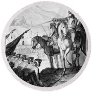 Saratoga: Surrender, 1777 Round Beach Towel