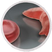 Sickle-cell Disease Round Beach Towel