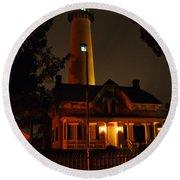 St Simons Island Lighthouse 2 Round Beach Towel