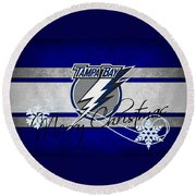 Tampa Bay Lightning Round Beach Towel