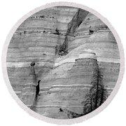 New Mexico - Tent Rocks Round Beach Towel