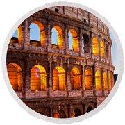 The Majestic Coliseum - Rome Round Beach Towel