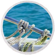 The Ropes Round Beach Towel