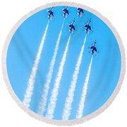 Thunderbirds In Formation  Round Beach Towel