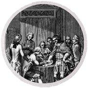Treaty Of Paris, 1783 Round Beach Towel