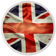 Union Jack  Round Beach Towel by Les Cunliffe
