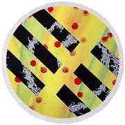 Untitled Round Beach Towel by Tanya Hamell