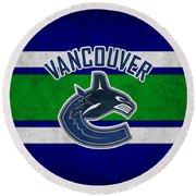 Vancouver Canucks Round Beach Towel