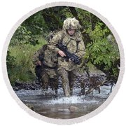 Welsh Guards Training Round Beach Towel