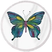 71 Cathedral Butterfly Round Beach Towel by Amy Kirkpatrick