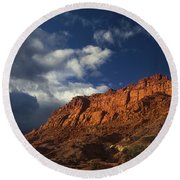 clearing storm waterpocket fold capitol reef NP Round Beach Towel