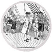 Benjamin Franklin (1706-1790) Round Beach Towel