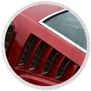 Mustang Fastback Detail Round Beach Towel