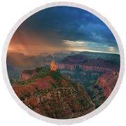 749220321 North Rim Grand Canyon Arizona Round Beach Towel