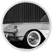 1957 Chevrolet Corvette Round Beach Towel