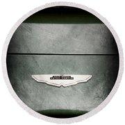 1959 Aston Martin Db4 Gt Hood Emblem Round Beach Towel