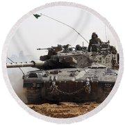 An Israel Defense Force Merkava Mark II Round Beach Towel