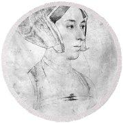 Anne Boleyn (1507-1536) Round Beach Towel