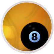 8 Ball Round Beach Towel