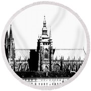 Cathedral Of St Vitus Round Beach Towel