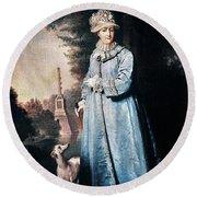 Catherine II (1729-1796) Round Beach Towel