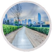 Charlotte Downtown Round Beach Towel