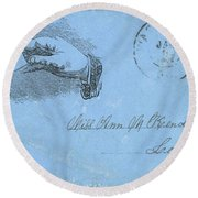 Civil War Letter, C1863 Round Beach Towel