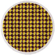 Diy Template Jewels Diamonds Pattern Graphic Sparkle Multipurpose Art Round Beach Towel