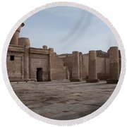 Edfu Round Beach Towel