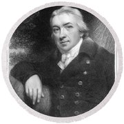 Edward Jenner (1749-1823) Round Beach Towel