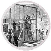 Execution Of Conspirators Round Beach Towel