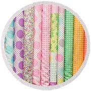 Fabric Background Round Beach Towel