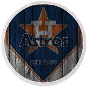 Houston Astros Round Beach Towel