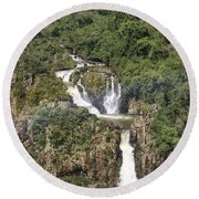 Iquazu Falls - South America Round Beach Towel