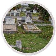 Key West Cemetery Round Beach Towel