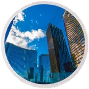 Las Vegas Nevada Usa Round Beach Towel