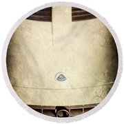 Lotus Hood Emblem Round Beach Towel