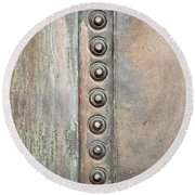 Metal Background Round Beach Towel