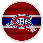 Montreal Canadiens Round Beach Towel