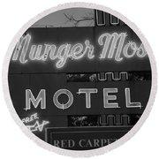 Route 66 - Munger Moss Motel Round Beach Towel