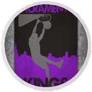 Sacramento Kings Round Beach Towel