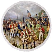 Saratoga: Surrender, 1777 Round Beach Towel