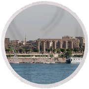 Scenes From Luxor Round Beach Towel