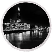 The Shard And Southbank London Round Beach Towel