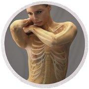 The Skeletal System Female Round Beach Towel