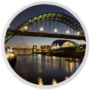 Tyne Bridge Round Beach Towel
