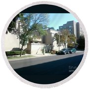 Unity Temple Round Beach Towel