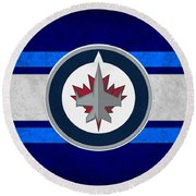 Winnipeg Jets Round Beach Towel